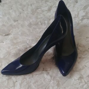 Nine West- worn only once! Blue Almond Toe heels